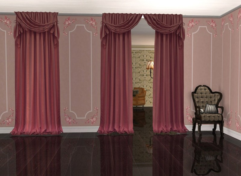 Large Of Sims 4 Curtains