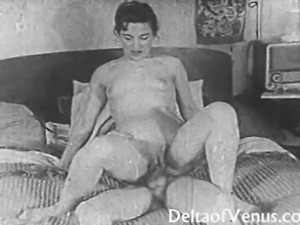 Milf invites spying boy to fuck her 1950s vintage
