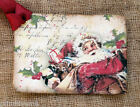 Hang Tags VINTAGE SANTA CLAUS TOY BAG CHRISTMAS TAGS or MAGNET 606 Gift Tags