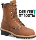 "Men's Carolina Boots CA4821 -  8"" Brown Insulated Waterproof Logger"