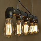 Industrial Vintage Retro Loft Iron Pipe Ceiling Pendants Light Kitchen Bar Lamp