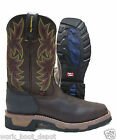 Tony Lama Mens Brown Leather Western Cowboy Composite Toe Work Boots TW1061