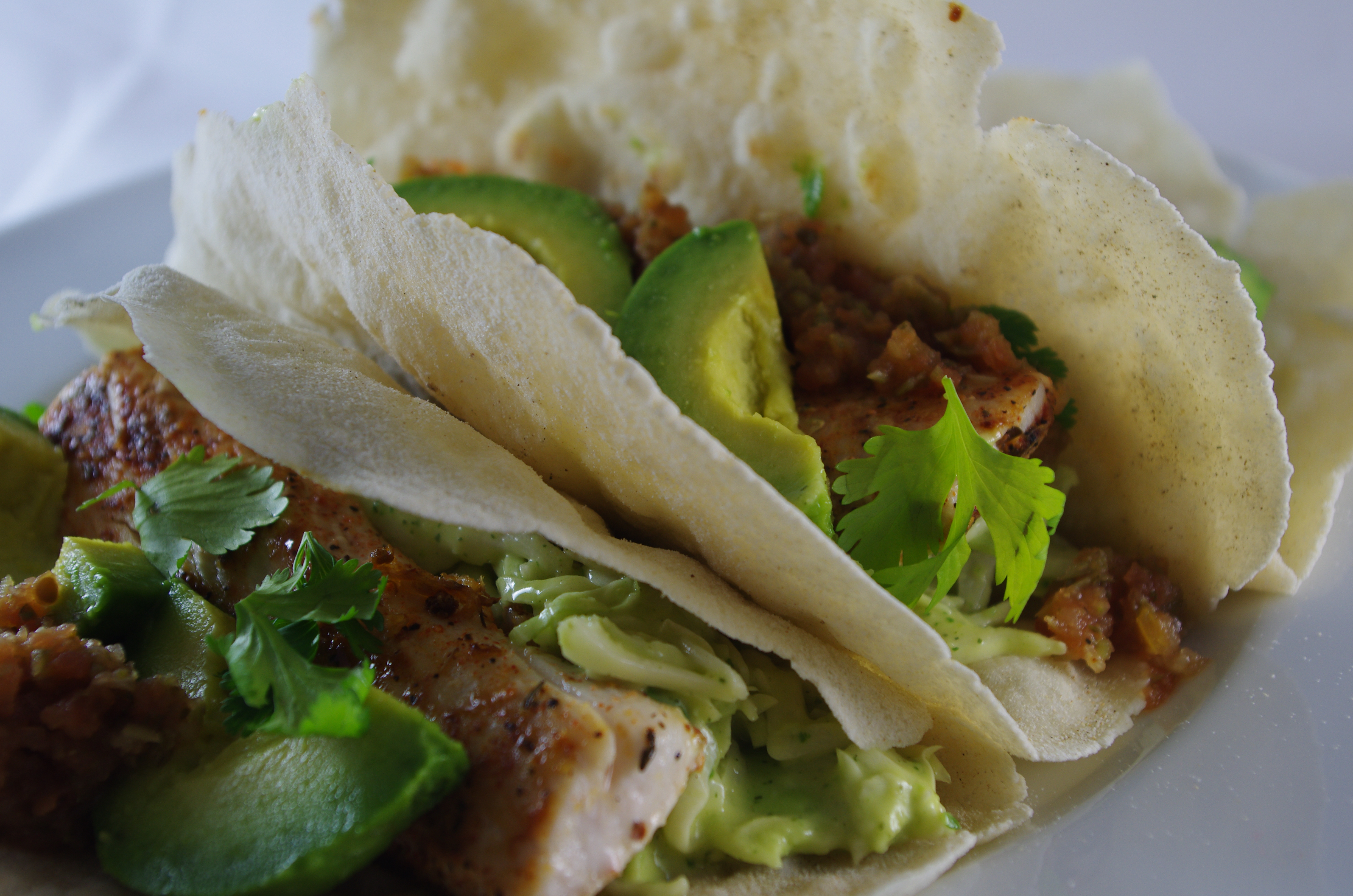 Saut ed fish tacos with slaw thyme and tarragon for Slaw for fish tacos