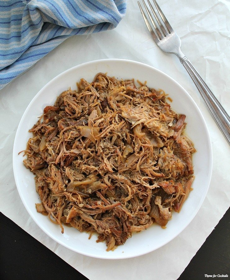 Beer Braised Carnitas ~ Thyme for Cocktails
