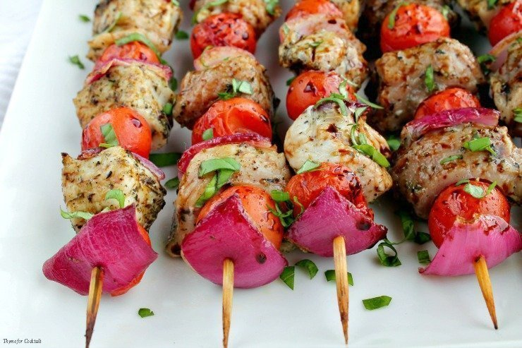 Bruschetta Pork Kabobs