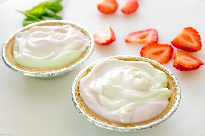 Mini Strawberry Lime Freezer Pies ~ Thyme for Cocktails