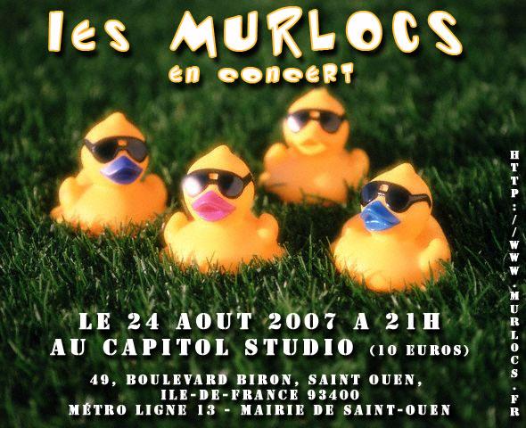 Flyer Murlocs au CapitolStudio