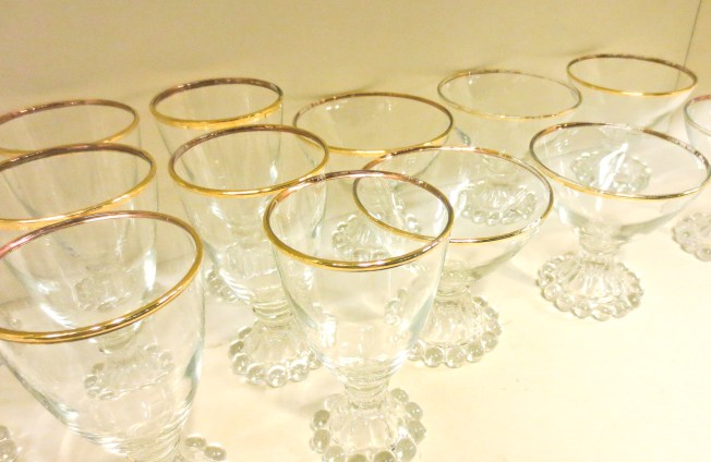 Antique glassware at Kudzu in Decatur, Atlanta | tide and bloom