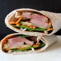 Wrap au magret de canard épicé et légumes croquants