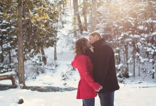 Medium Of Winter Engagement Photos
