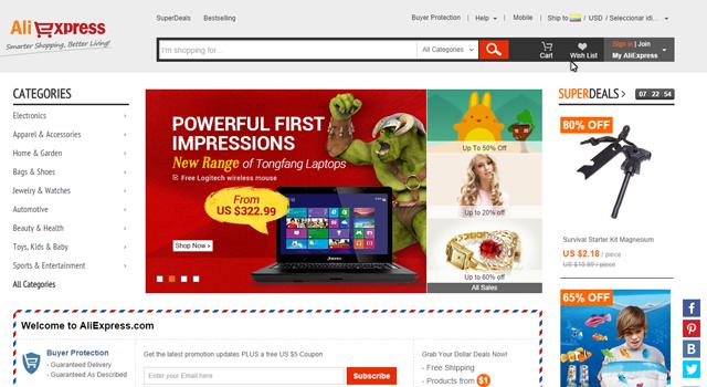 Centros comerciales online