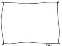 フリー素材:フレーム素材。 シンプルでガーリーな手描きの線(ライン)の素材。