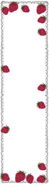 ネットショップ、バナー広告のwebデザイン素材:大人可愛いイチゴとレースのイラストのフリー素材(160×50pix)