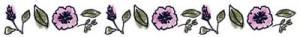 ネットショップ制作に使えるナチュラルな花と葉っぱの飾り罫:400×50pix