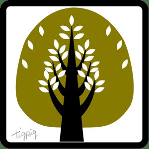 シンプルな北欧風の木のアイコン:300×300pix