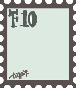 シンプルな切手風イラストのフレーム:400×460pix
