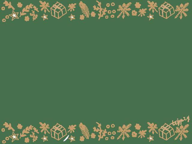 ネットショップ制作に使えるシンプルだけど華やかなクリスマスのイラストのフレーム(640×480pix)