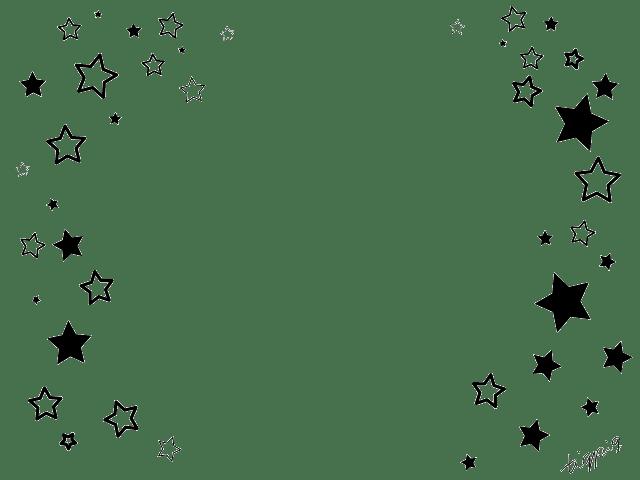 モノトーンのシンプルな星いっぱいのフレーム:640×480pix