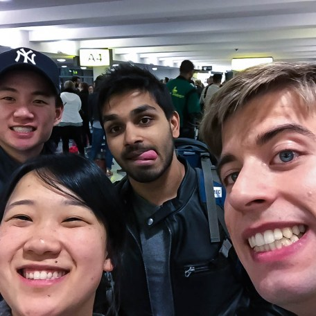 Selfie at the airport