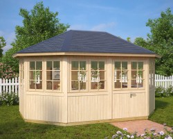Octagonal Summer House Albatross 12m² / 21mm / 4,6 x 3,3 m