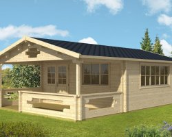 Summer House with Veranda Armin XL 25m² / 70mm / 5 x 8 m