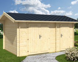 Large Garden Double Shed Fred 10m² / 28mm / 4,1 x 3 m