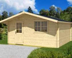 Garden Log Cabin Weekend XL 19m² / 40mm / 4,7 x 4,6 m