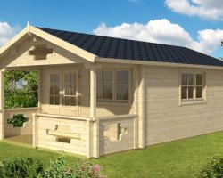 Summer house with Veranda Sommerland B 19m² / 70mm / 5 x 4 m