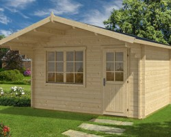 Garden Log Cabin Johanna A 12,5m² / 50mm / 4,1 x 3,5 m