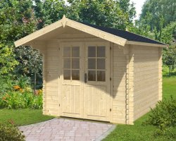 Log Cabin Garden Office Lily L 6,2m² / 28mm / 2,5 x 3 m