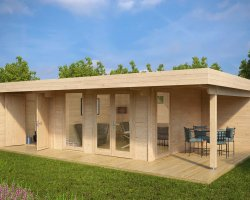 Luxury Summer House with Storage Room Hansa Lounge XXL 22m² / 44mm / 8 x 5 m