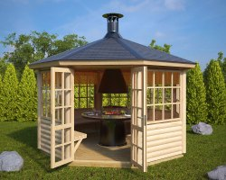BBQ Hut Seattle 9,5m² / 55mm / 3,6 x 3,3 m