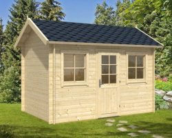 Lisa S 1024x683 500x400 - Garden Log Cabin Lisa A/S 8.5m² / 28mm / 3,5 x 2,8 M