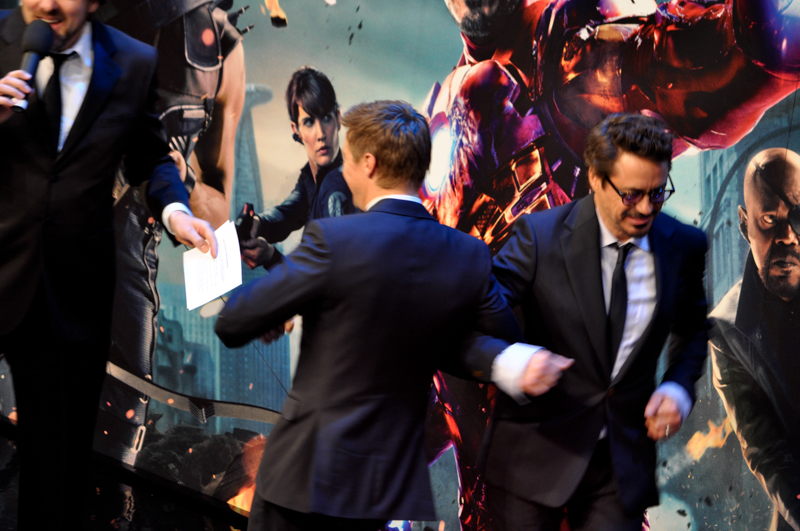 Robert Downey Jr. and Jeremy Renner