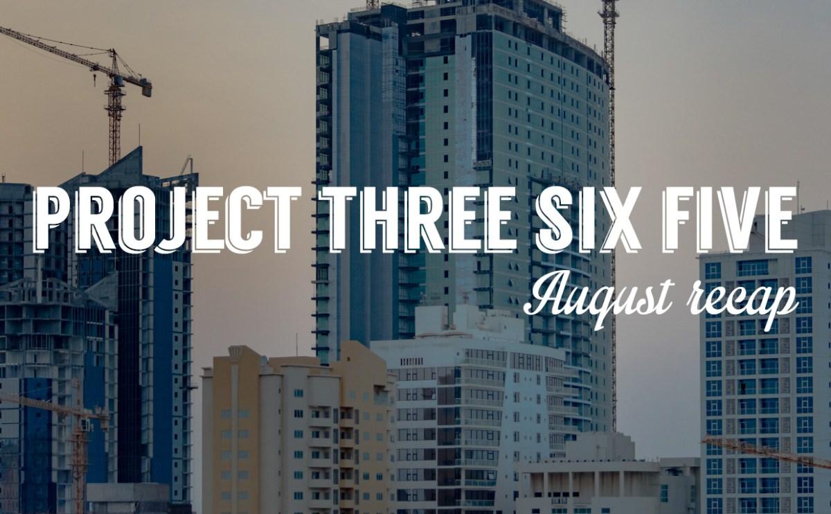 Project 365: August 2015 recap