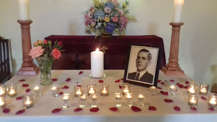 The altar at Cedric's memorial service