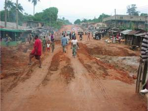 This is the original condition of the road that would lead to the Aba temple.