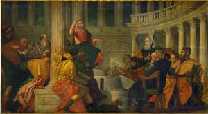 """Paolo Veronese, """"Christ with the doctors in the Temple,"""" 1528-1588."""