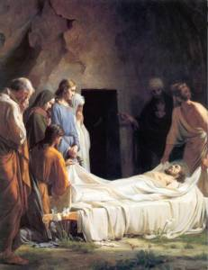 "Carl Bloch, ""Burial of Christ,"" 1865-79."