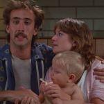 "Nicholas Cage and Holly Hunter in ""Raising Arizona""."
