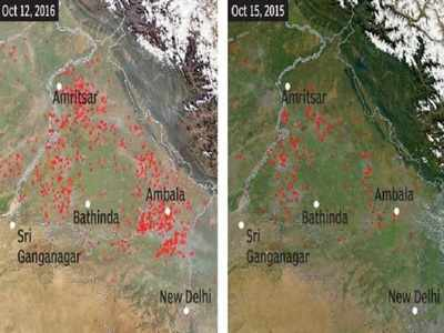 Images from the same period last year show visibly fewer fire spots.