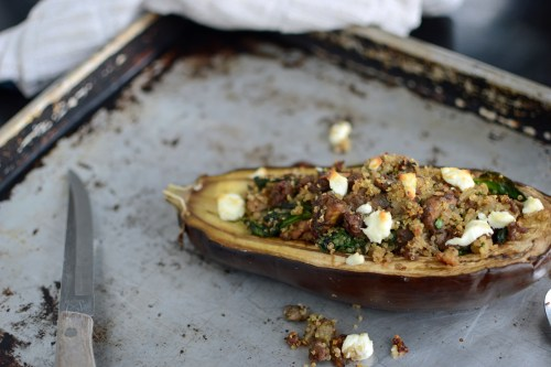 Eggplant Stuffed with Quinoa and Goat Cheese full size