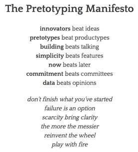 Pretotyping Manifesto
