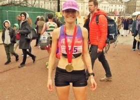 Tina muir London marathon finish 2016