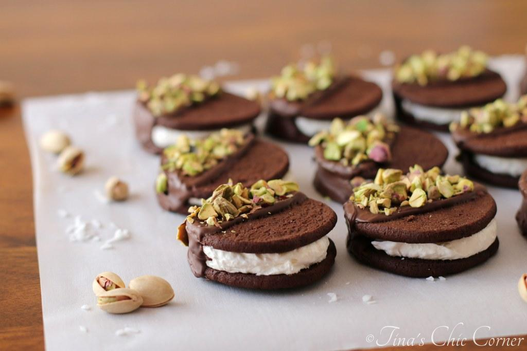 Coconut Ice Cream Sandwiches Dipped in Chocolate and ...