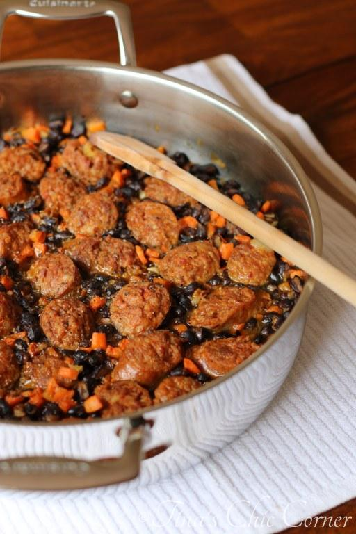 01One Pot Black Beans and Sausage