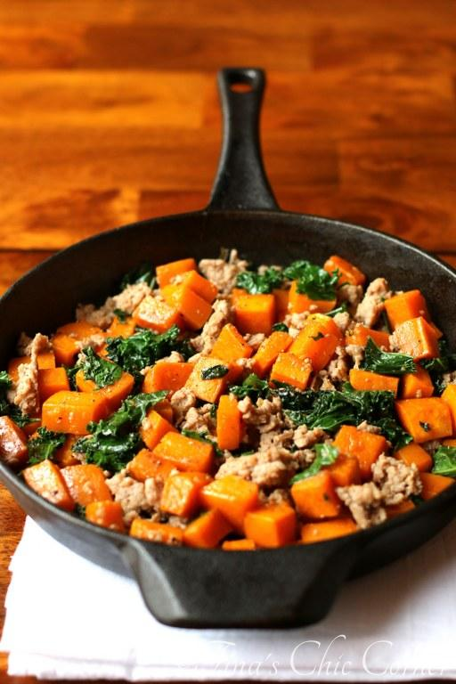 06Butternut Squash, Kale, and Sausage