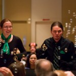 Handbell ringing with bubbles