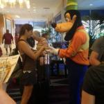 Amber meeting Goofy!