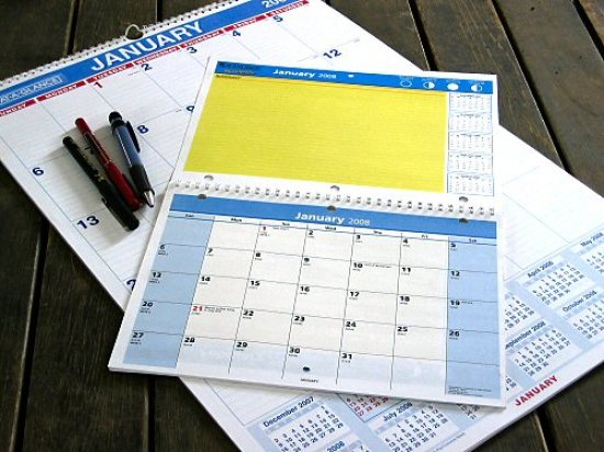 The new calendars